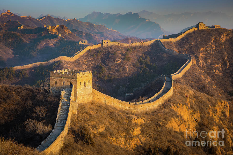 Asia Photograph - Great Wall Last Light by Inge Johnsson
