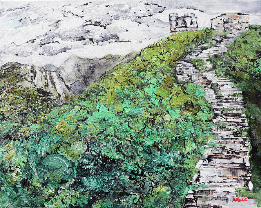 Great Wall Painting - Great Wall Of China 201839 by Alyse Radenovic