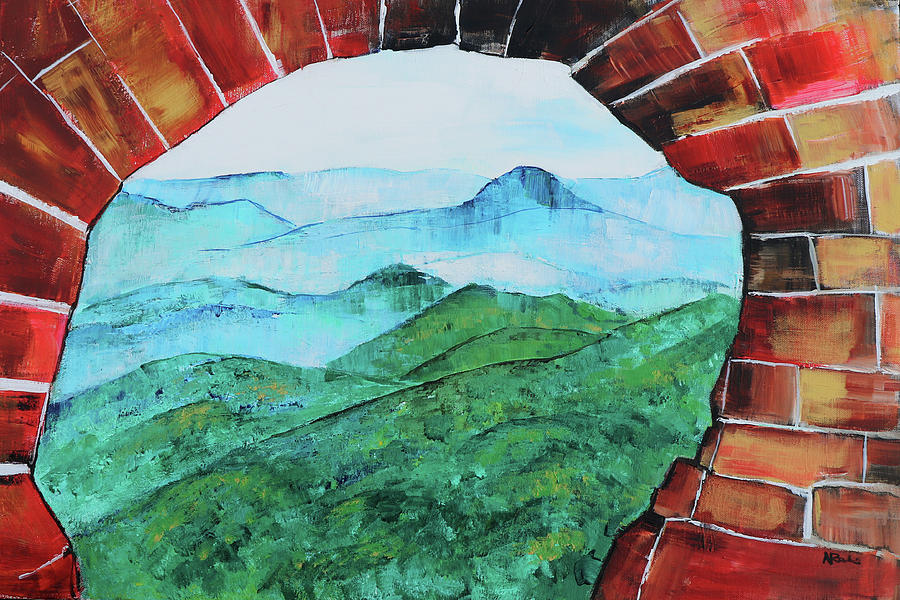 Great Wall Of China Painting - Great Wall V 201848 by Alyse Radenovic