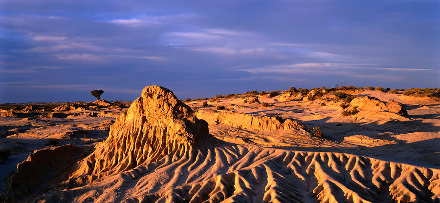 Great Walls Of China At Dusk, Mungo Photograph by Oliver Strewe
