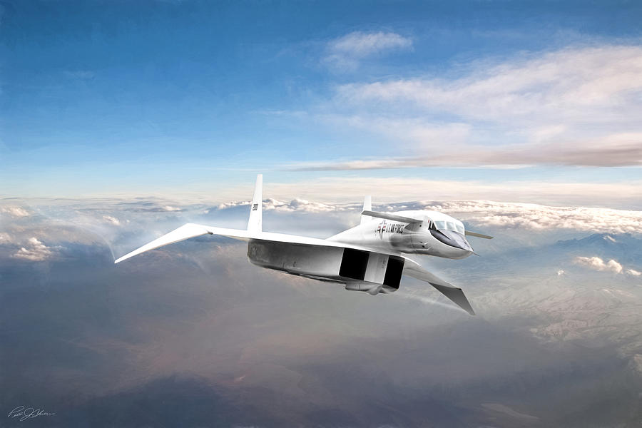 Aviation Digital Art - Great White Hope Xb-70 by Peter Chilelli