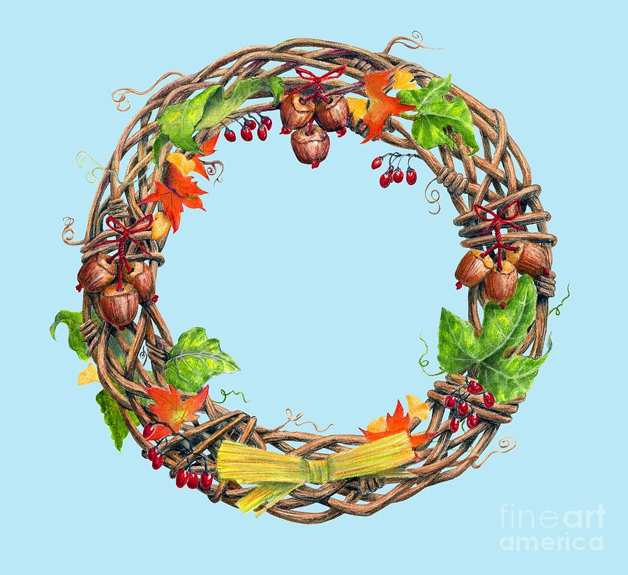 Great Wreath for Mabon by Melissa A Benson