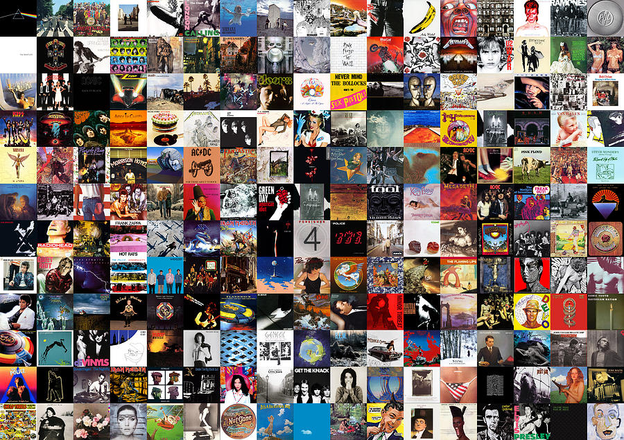 Album Covers Digital Art - Greatest Album Covers of All Time by Zapista OU