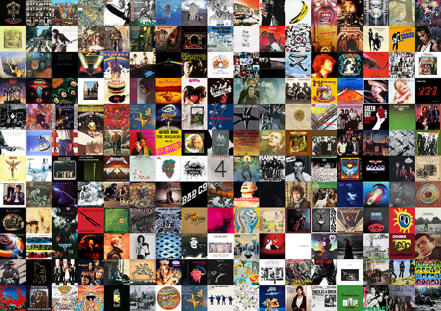 Greatest Rock Albums Of All Time Digital Art