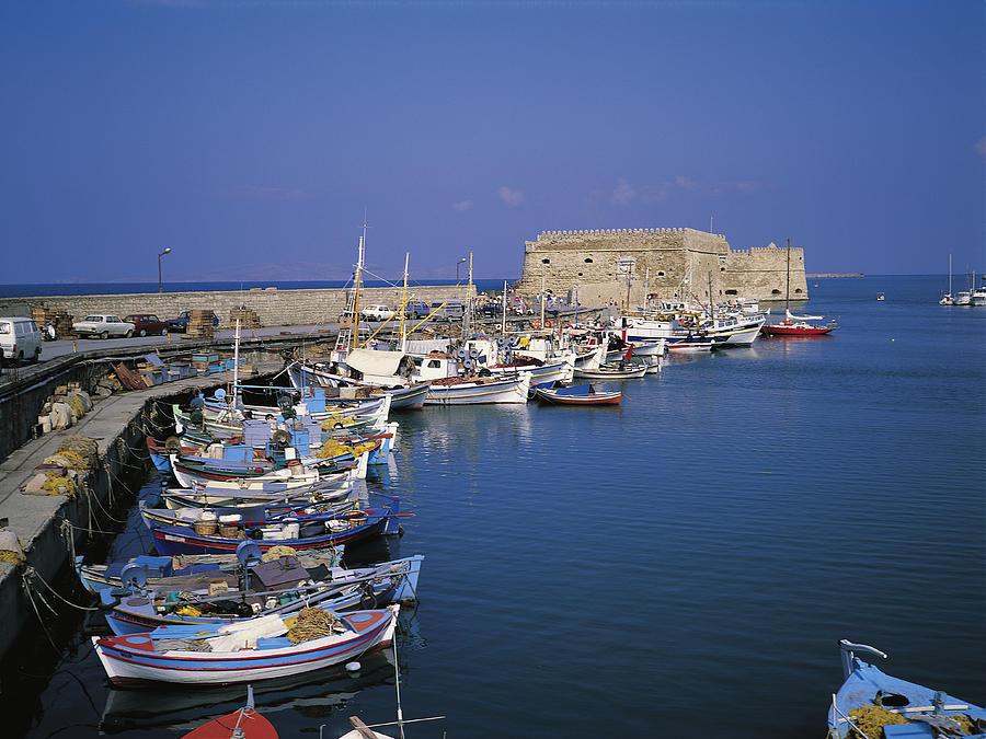 Greece, Crete, Heraklion Harbour Photograph by Sylvester Adams