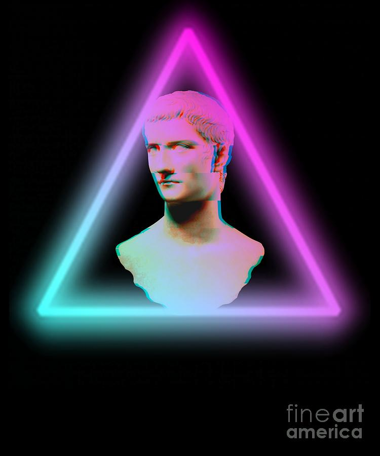 Greek Bust Neon Style Graphic Aesthetic 80s Retrowave Art by DC Designs  SuaMaceir