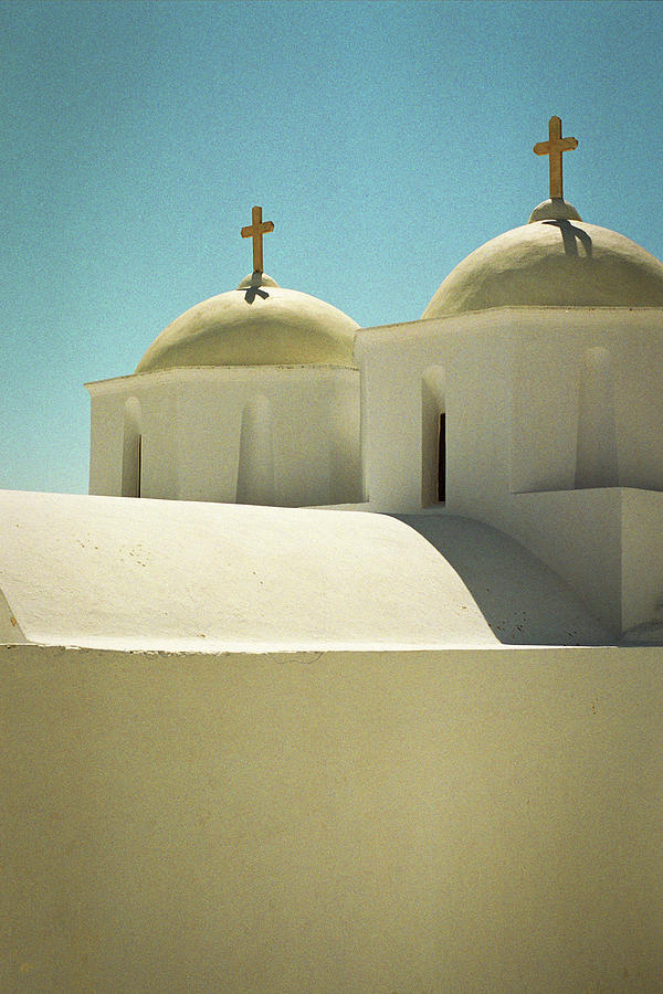 Greek Chapel, Vertical Photograph by Deimagine
