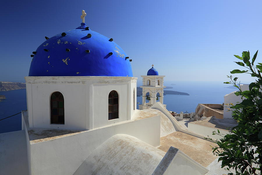 Greek Church In Santorini Photograph by Iñigo Escalante