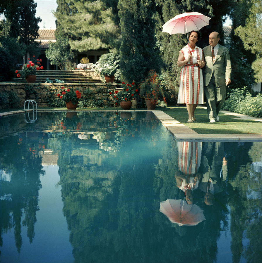 Greek Garden Photograph by Slim Aarons