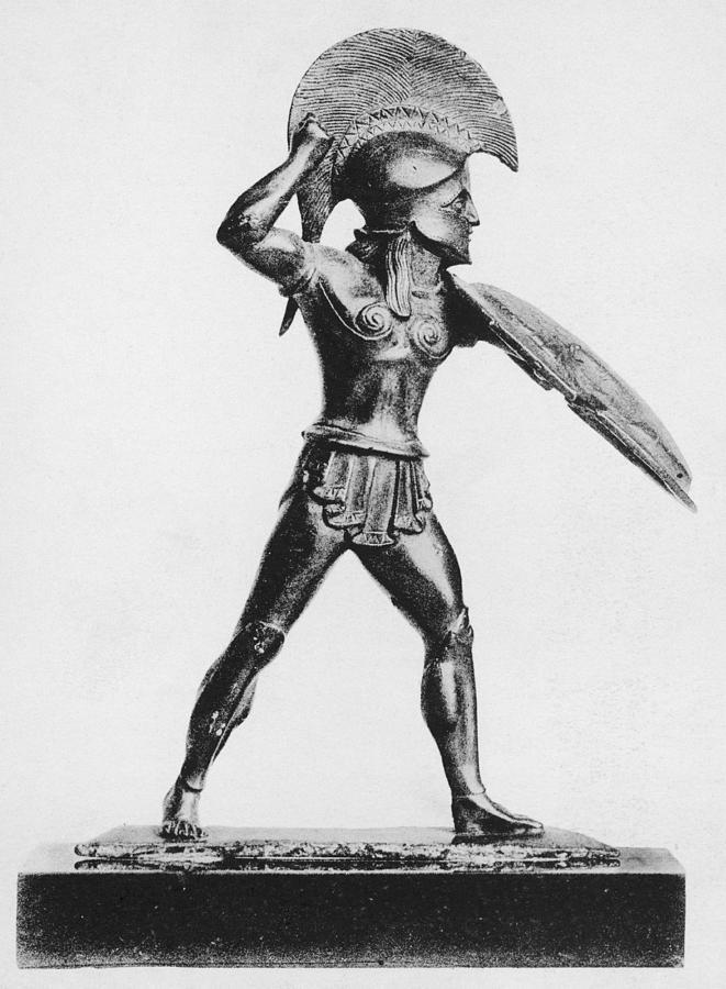 Greek Hoplite Photograph by Hulton Archive