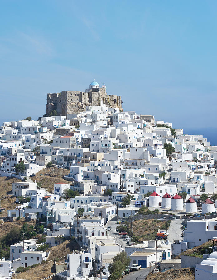 Greek Island Hilltop Chora Town With Photograph by Abzee