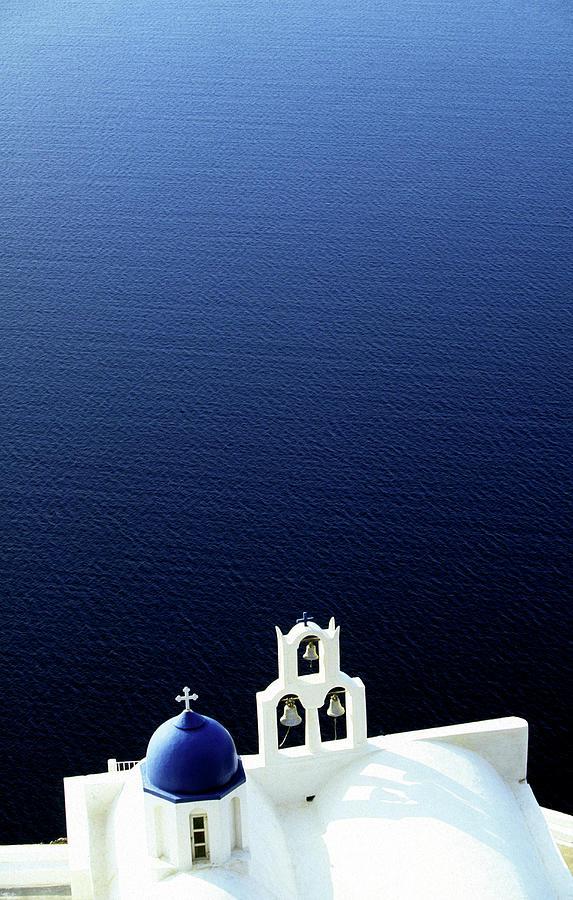 Greek Orthodox Chapel On Santorini Photograph by John Seaton Callahan