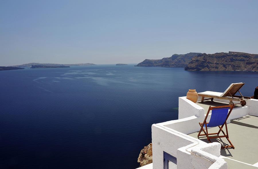 Greek Sunbeds Photograph by Oversnap
