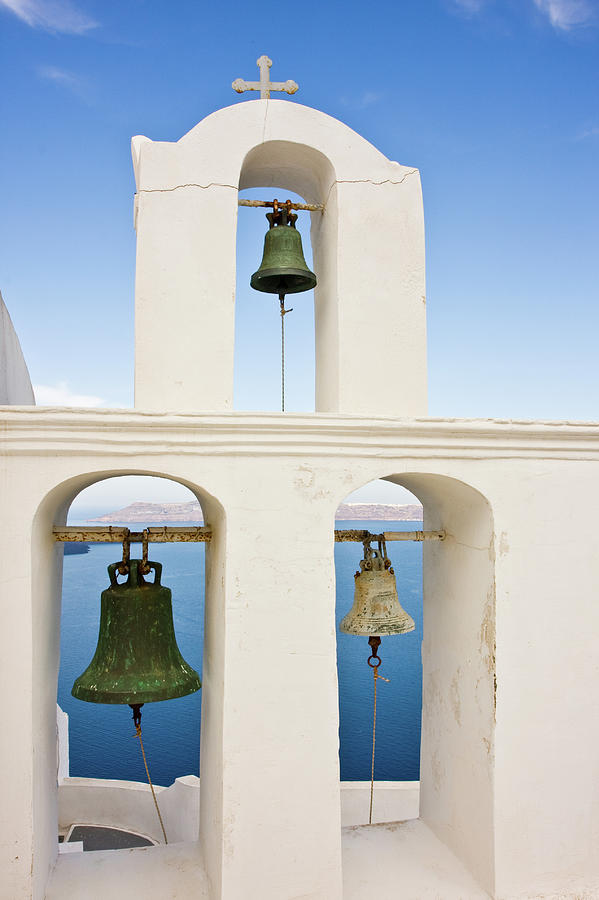 Greek Triple Church Bell Tower Photograph by Arturbo
