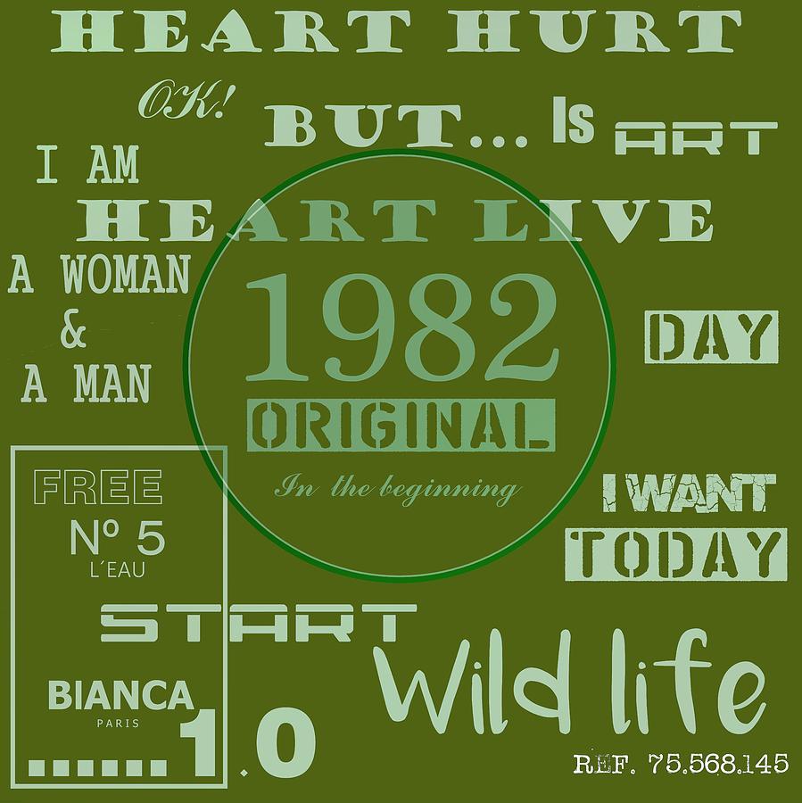 Original Digital Art - Green 1982 Original by Alberto RuiZ