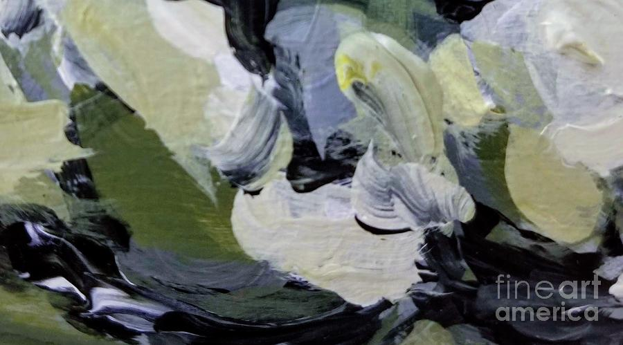 Abstract Painting - Green #2 by Maria Langgle
