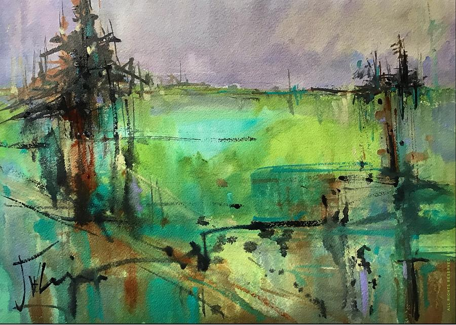 Green Abstraction by Judith Levins