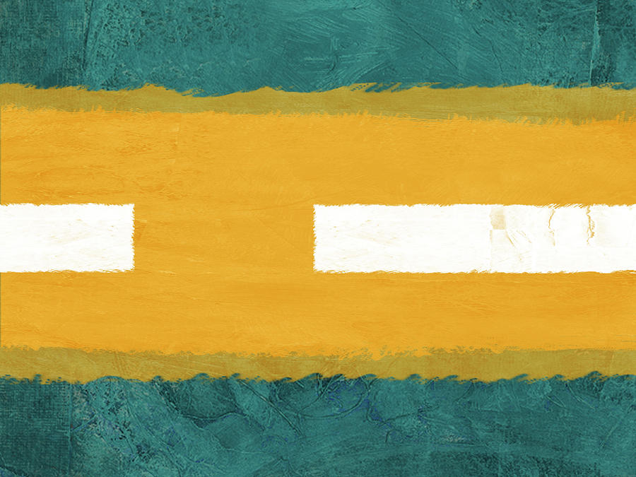 Abstract Painting - Green And Yellow Abstract Theme I by Naxart Studio