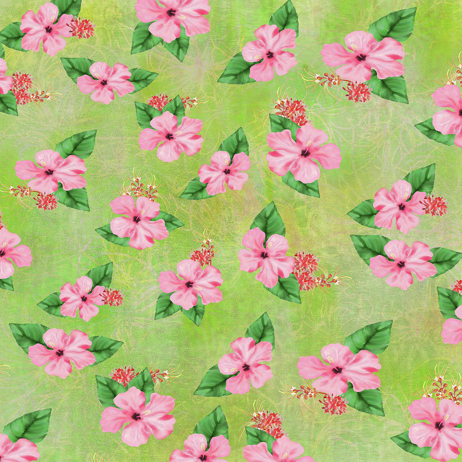 Green Batik Tropical Multi-Foral Print by Sand And Chi