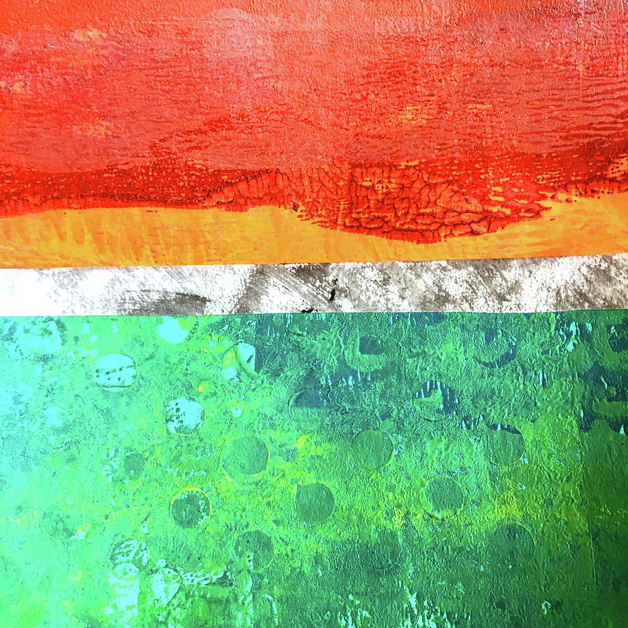Green Bay Abstract by Nancy Merkle