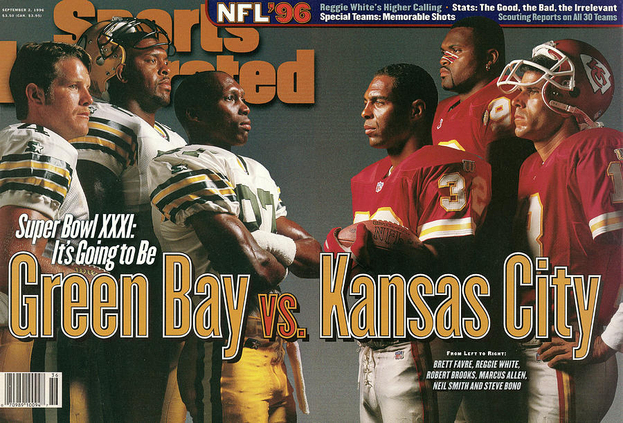 Green Bay Packers And Kansas City Chiefs, 1996 Nfl Football Sports Illustrated Cover Photograph by Sports Illustrated