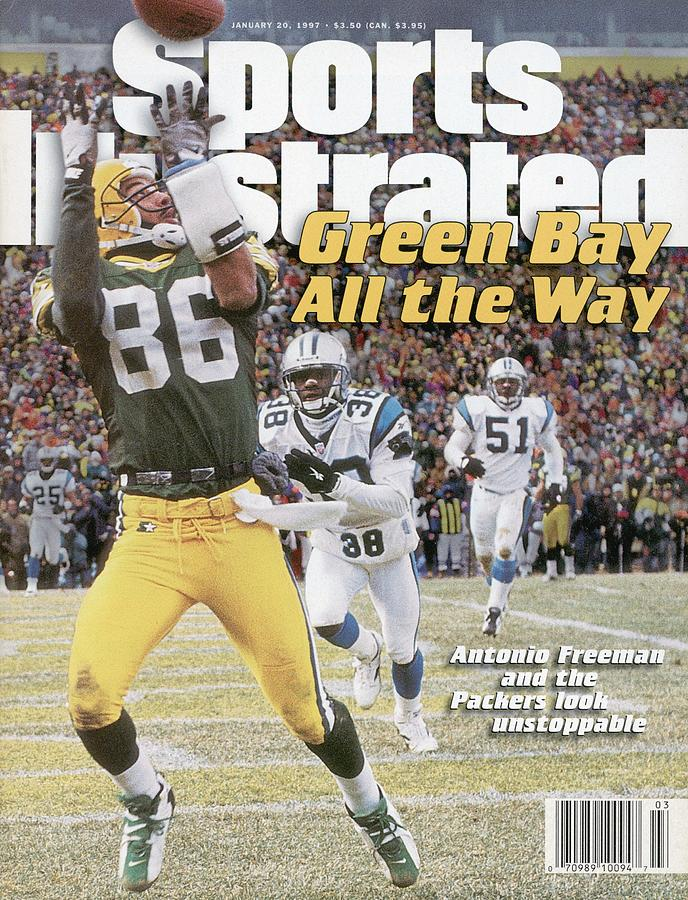 Green Bay Packers Antonio Freeman, 1997 Nfc Championship Sports Illustrated Cover Photograph by Sports Illustrated