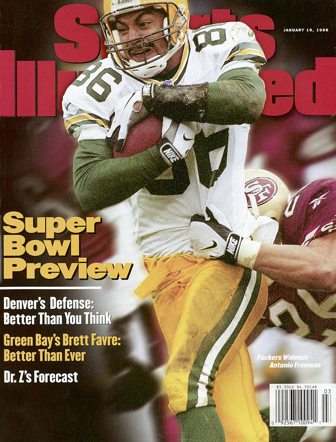 Green Bay Packers Antonio Freeman, 1998 Nfc Championship Sports Illustrated Cover Photograph by Sports Illustrated