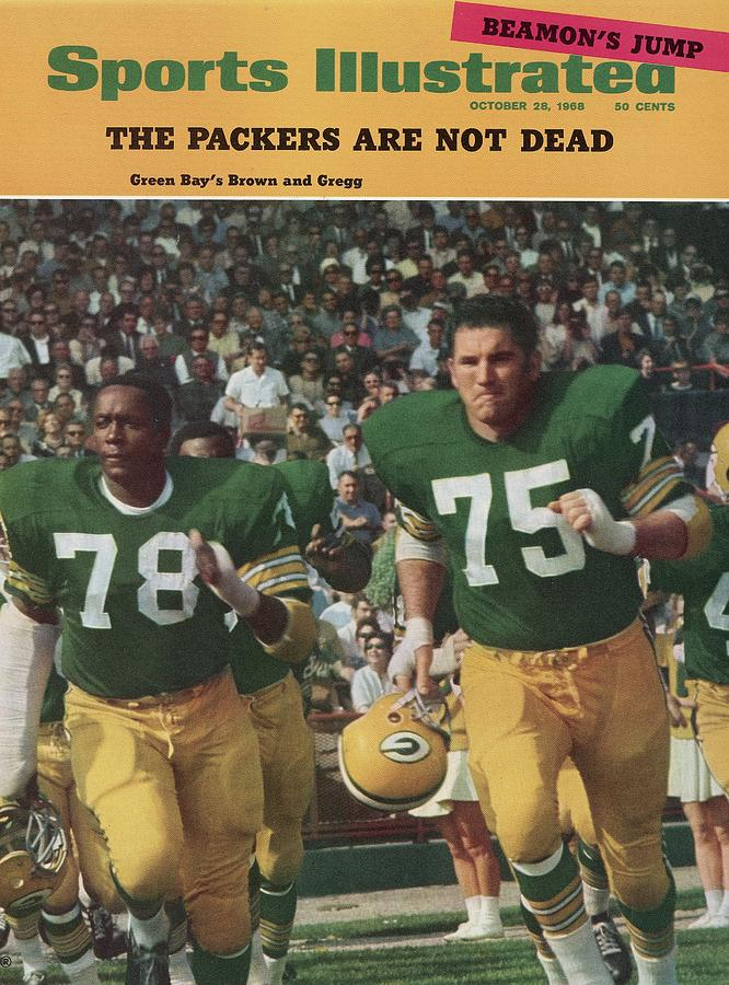 Green Bay Packers Bob Brown And Forrest Gregg Sports Illustrated Cover Photograph by Sports Illustrated