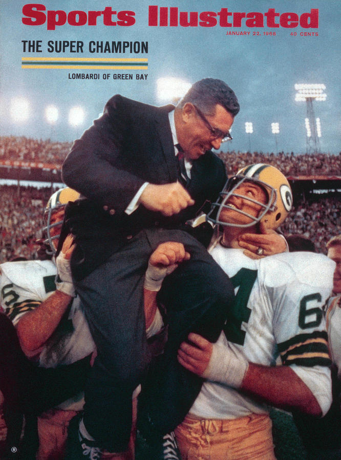 Magazine Cover Photograph - Green Bay Packers Coach Vince Lombardi, Super Bowl II Sports Illustrated Cover by Sports Illustrated