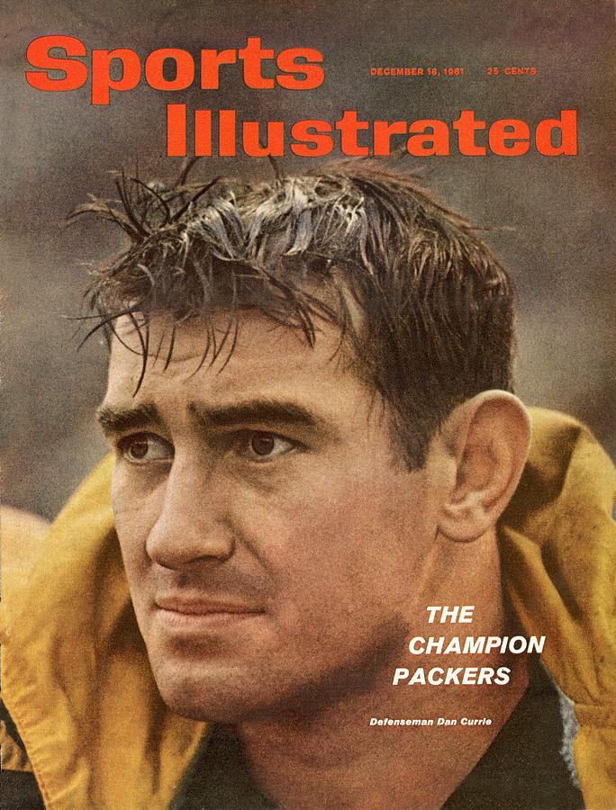 Green Bay Packers Dan Currie Sports Illustrated Cover Photograph by Sports Illustrated