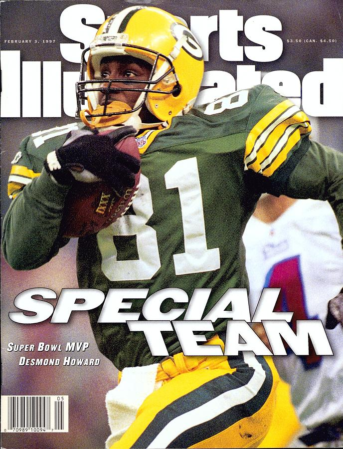 Green Bay Packers Desmond Howard, Super Bowl Xxxi Sports Illustrated Cover Photograph by Sports Illustrated