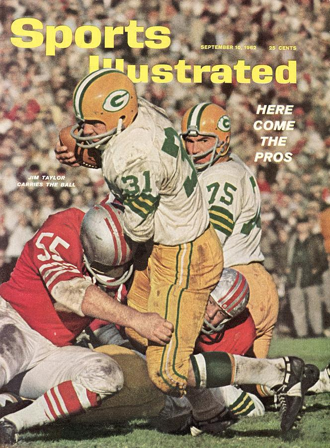 Green Bay Packers Jim Taylor And Forrest Gregg Sports Illustrated Cover Photograph by Sports Illustrated