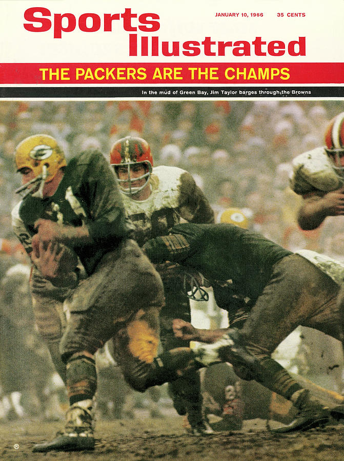 Green Bay Packers Jimmy Taylor, 1966 Nfl Championship Sports Illustrated Cover Photograph by Sports Illustrated
