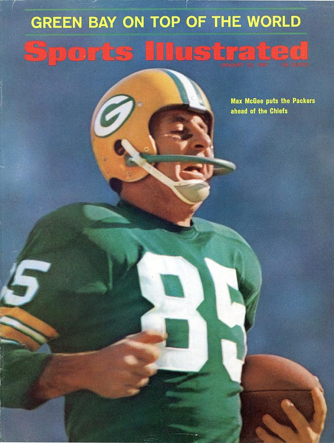 Green Bay Packers Max Mcgee, Super Bowl I Sports Illustrated Cover Photograph by Sports Illustrated