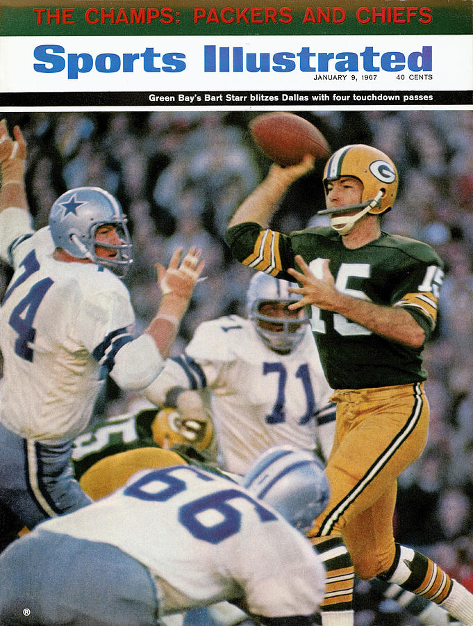 Green Bay Packers Qb Bart Starr, 1967 Nfl Championship Sports Illustrated Cover Photograph by Sports Illustrated