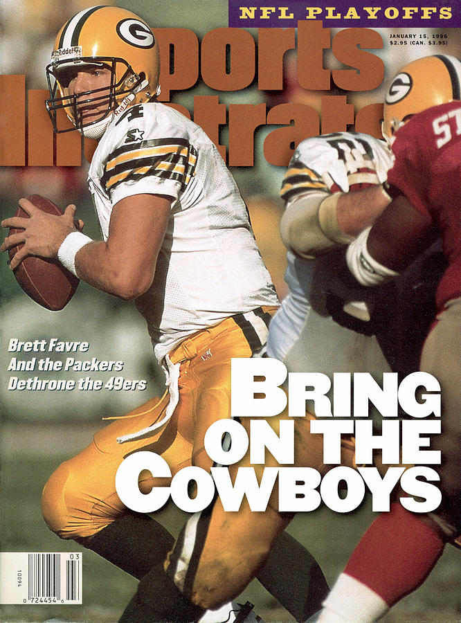 Green Bay Packers Qb Brett Favre, 1996 Nfc Divisional Sports Illustrated Cover Photograph by Sports Illustrated