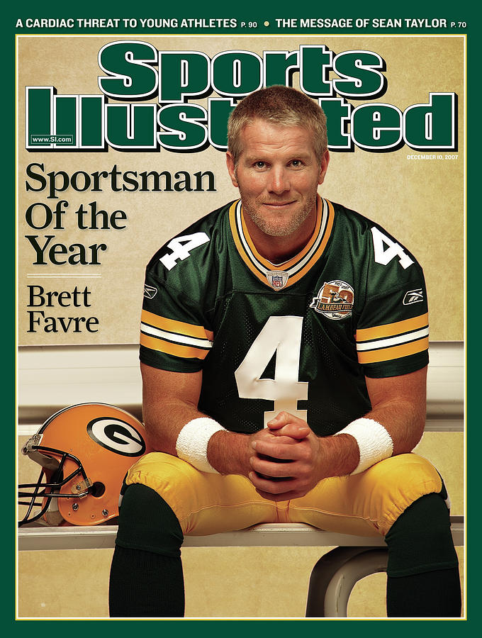 Green Bay Packers Qb Brett Favre, 2007 Sportsman Of The Year Sports Illustrated Cover Photograph by Sports Illustrated