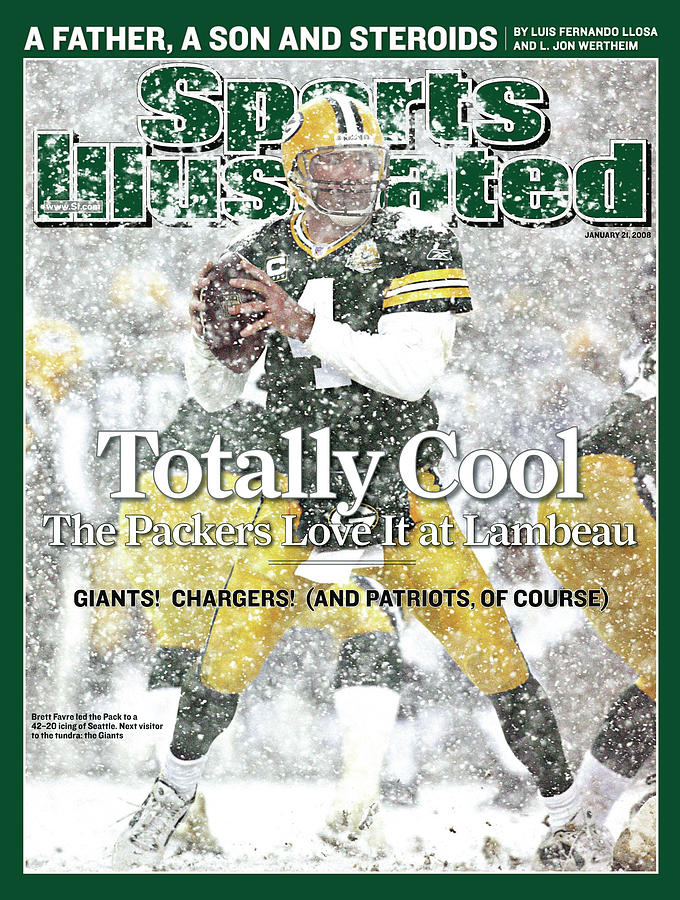 Green Bay Packers Qb Brett Favre, 2008 Nfc Divisional Sports Illustrated Cover Photograph by Sports Illustrated