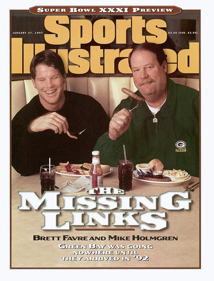 Green Bay Packers Qb Brett Favre And Coach Mike Holmgren Sports Illustrated Cover Photograph by Sports Illustrated