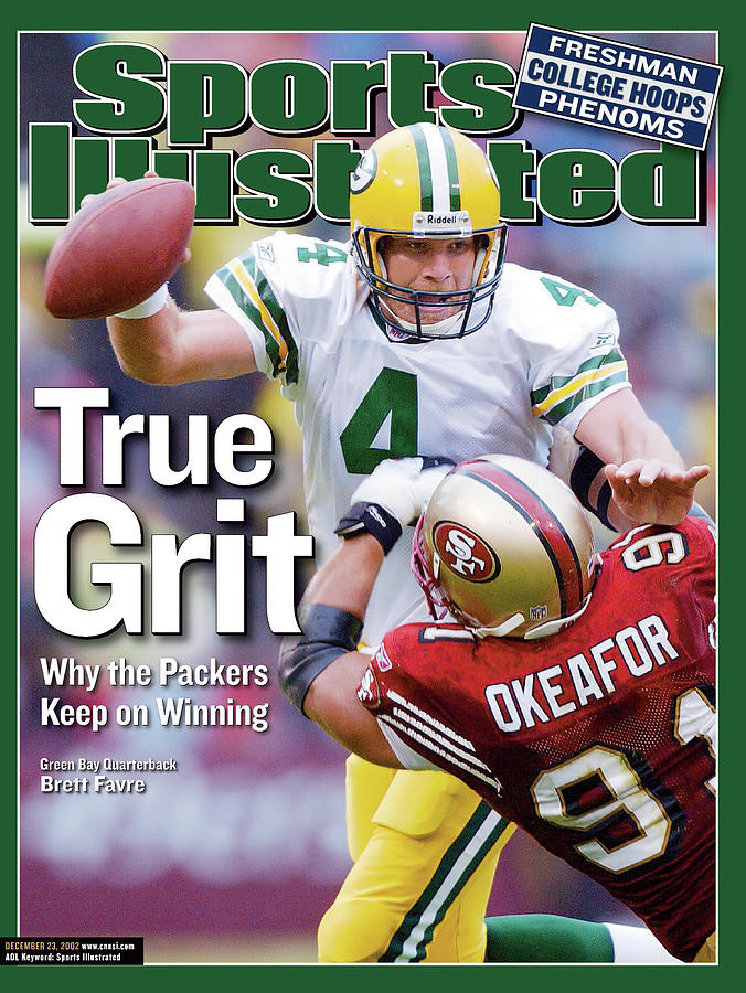 Green Bay Packers Qb Brett Favre... Sports Illustrated Cover Photograph by Sports Illustrated