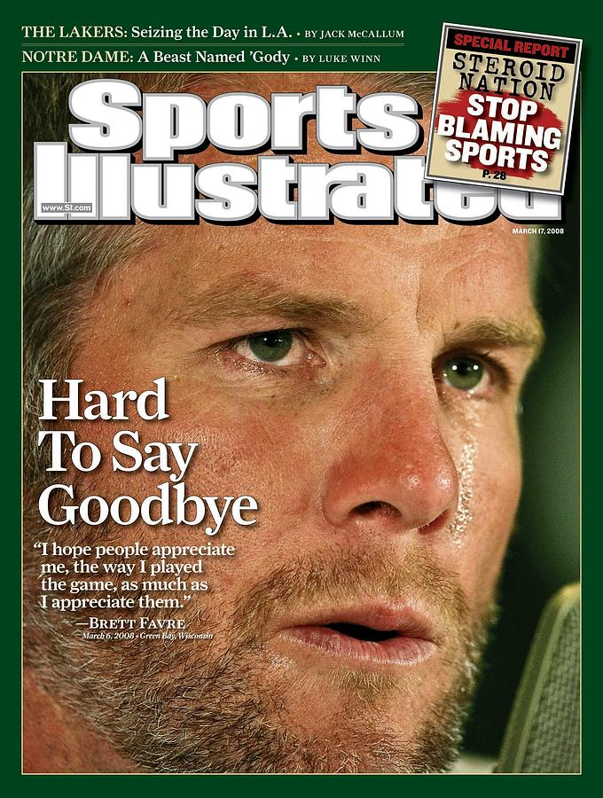 Green Bay Packers Qb Brett Favre, March 17, 2008 Sports Sports Illustrated Cover Photograph by Sports Illustrated