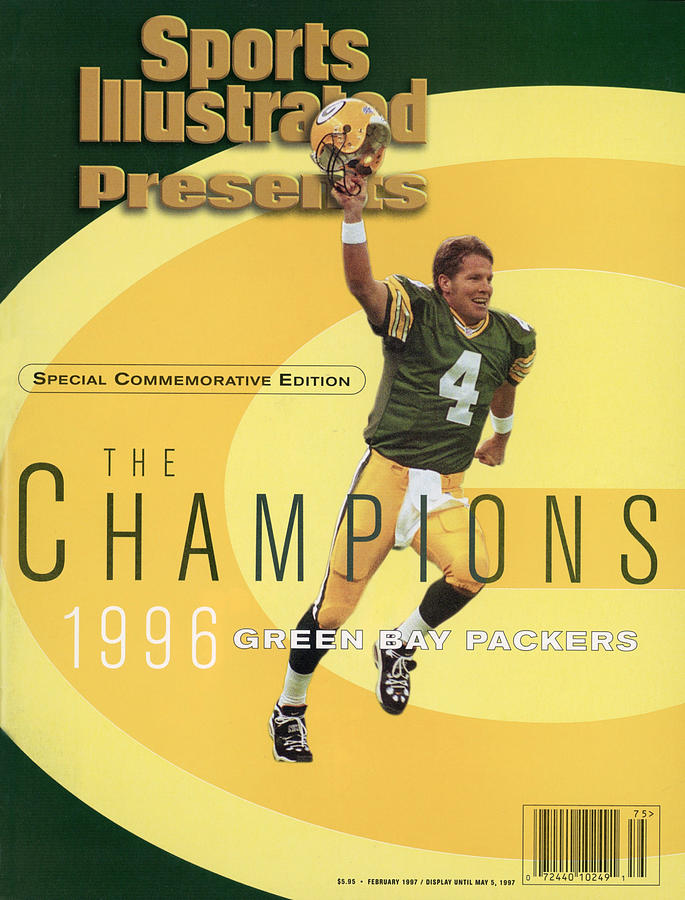 Green Bay Packers Qb Brett Favre, Super Bowl Xxxi Sports Illustrated Cover Photograph by Sports Illustrated