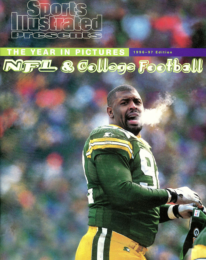 Green Bay Packers Reggie White, 1997 Nfc Championship Sports Illustrated Cover Photograph by Sports Illustrated