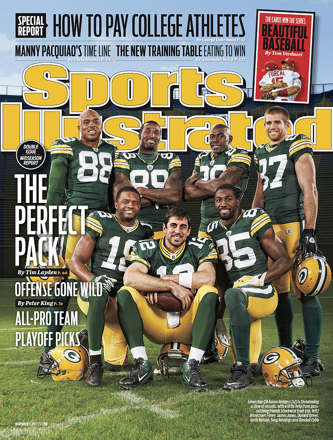 Green Bay Packers The Perfect Pack Sports Illustrated Cover Photograph by Sports Illustrated