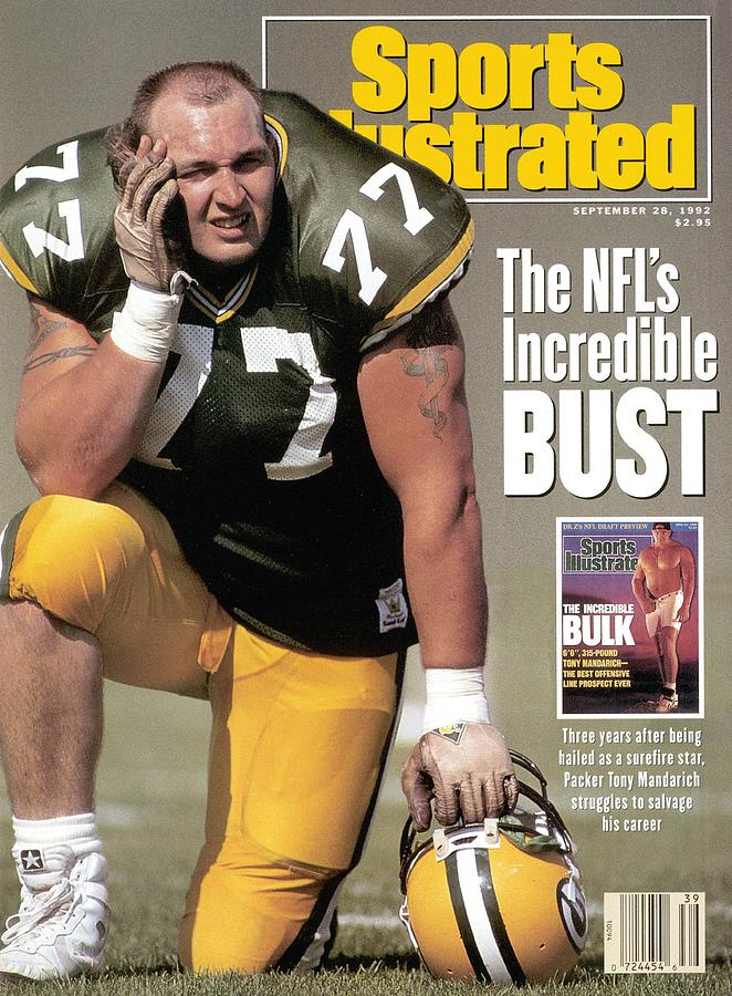 Green Bay Packers Tony Mandarich... Sports Illustrated Cover Photograph by Sports Illustrated