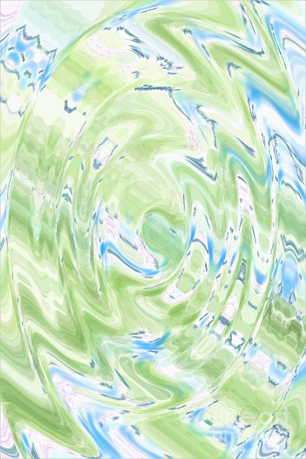 Green Blue Abstract by Dee Leah G