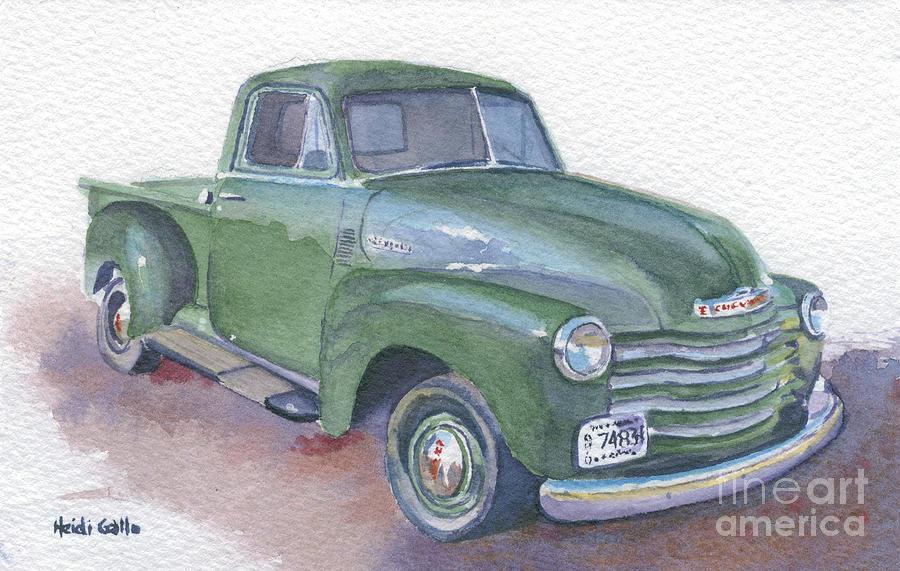 Green Chevy Truck by Heidi Gallo
