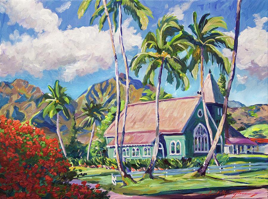 Green Church Kauai Painting