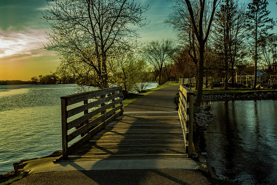Green Circle Trail Bridge by Neal Nealis