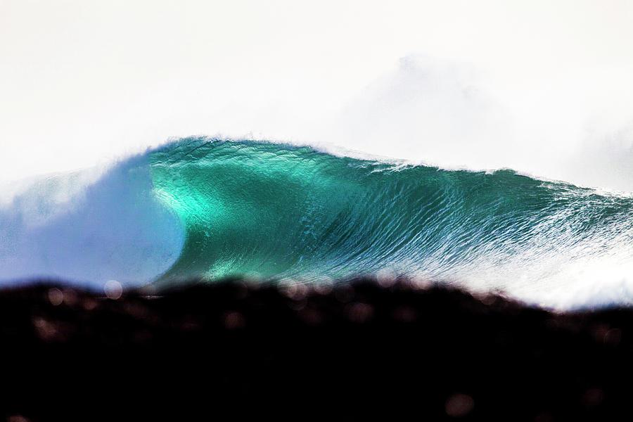 Surf Photograph - Green Coil by Sean Davey